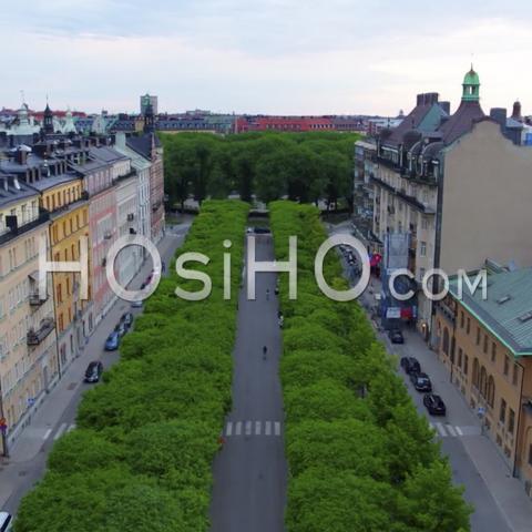 Vue Aérienne Sur L'hôtel-De-Ville De Stockholm, Vue De Riddarholmen, Suède